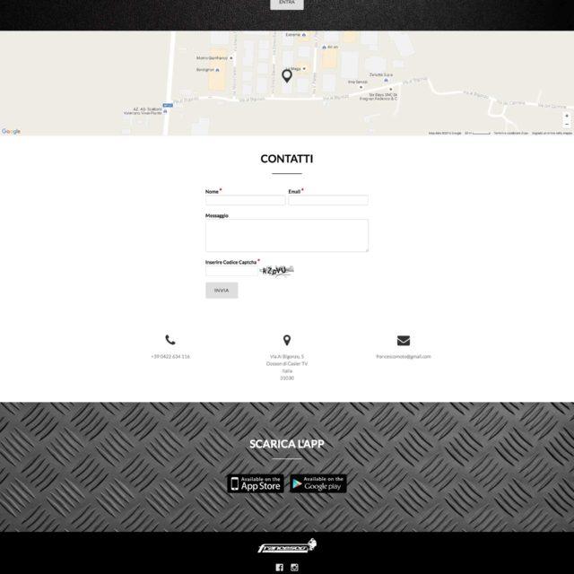 Francescomoto website maps contact